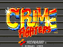 Crime Fighters (World 2 players) Title Screen