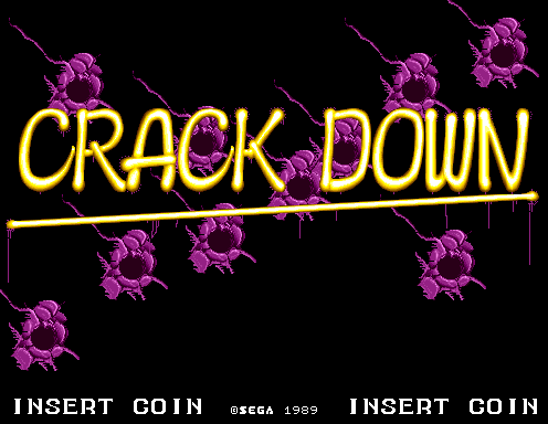 Crack Down (US, Floppy Based, FD1094 317-0058-04d) Title Screen
