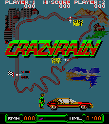 Crazy Rally (set 1) Title Screen