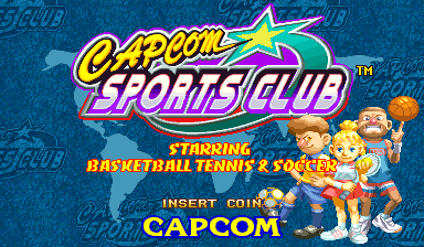 Capcom Sports Club (Euro 971017) Title Screen