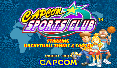 Capcom Sports Club (Asia 970722) Title Screen