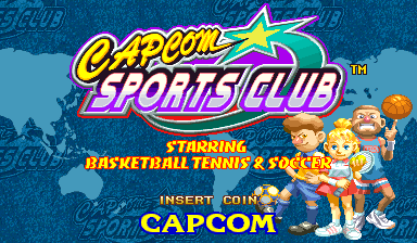 Capcom Sports Club (Hispanic 970722) Title Screen