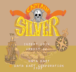 Captain Silver (World) Title Screen