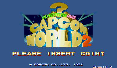Adventure Quiz Capcom World 2 (Japan 920611) Title Screen