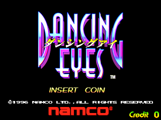 Dancing Eyes (US, DC3/VER.C) Title Screen