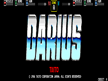 Darius (World, rev 2) Title Screen