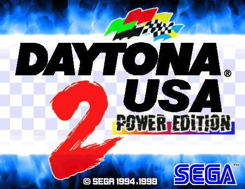 Daytona USA 2 Power Edition Title Screen