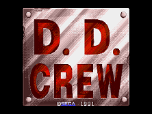 D. D. Crew (World, 3 Players) (FD1094 317-0190) Title Screen
