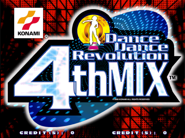 Dance Dance Revolution 4th Mix (G*A33 VER. AAA) Title Screen