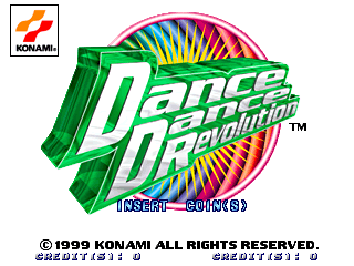 Dance Dance Revolution (GN845 VER. AAA) Title Screen