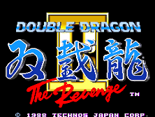 Double Dragon II - The Revenge (World) Title Screen