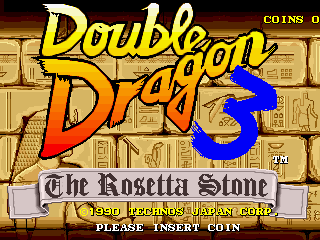 Double Dragon 3 - The Rosetta Stone (bootleg) Title Screen