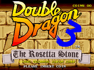 Double Dragon 3 - The Rosetta Stone (prototype) Title Screen