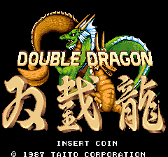 Double Dragon (US set 2) Title Screen