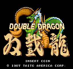 Double Dragon (US set 3) Title Screen