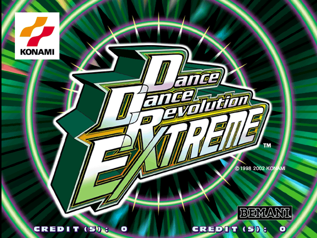 Dance Dance Revolution Extreme (G*C36 VER. JAA) Title Screen