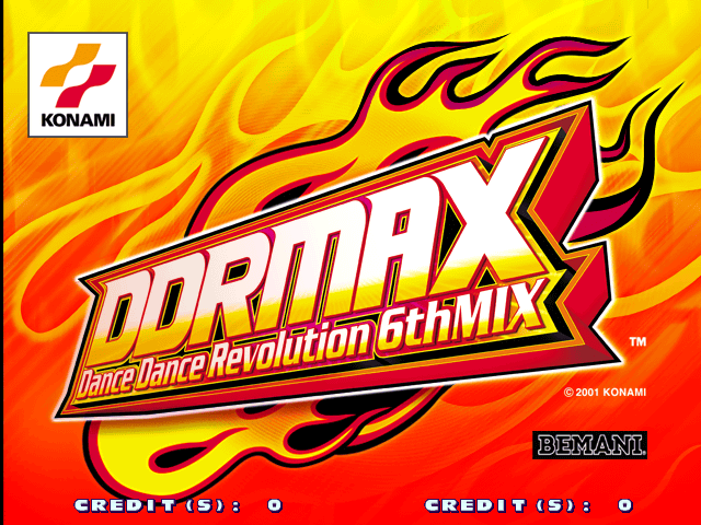 DDR Max - Dance Dance Revolution 6th Mix (G*B19 VER. JAA) Title Screen
