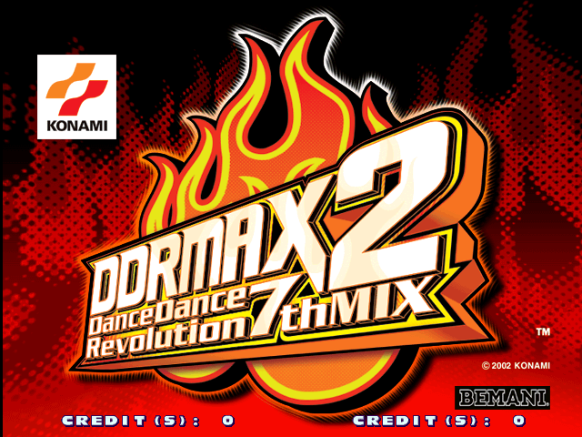 DDR Max 2 - Dance Dance Revolution 7th Mix (G*B20 VER. JAA) Title Screen