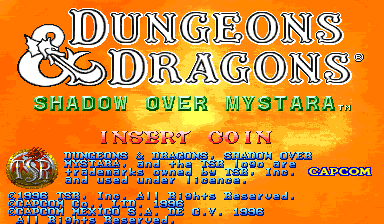 Dungeons & Dragons: Shadow over Mystara (Hispanic 960223) Title Screen