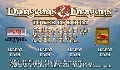 Dungeons & Dragons: Tower of Doom (Euro 940412 Phoenix Edition) (Bootleg) Title Screen