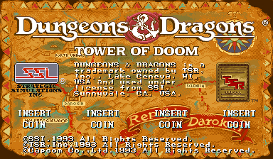 Dungeons & Dragons: Tower of Doom (Japan 940125) Title Screen