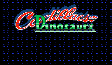 Cadillacs and Dinosaurs (bootleg with PIC16c57, set 2) Title Screen