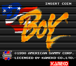 DJ Boy (set 1) Title Screen