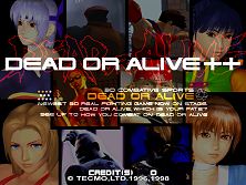 Dead Or Alive ++ (Japan) Title Screen