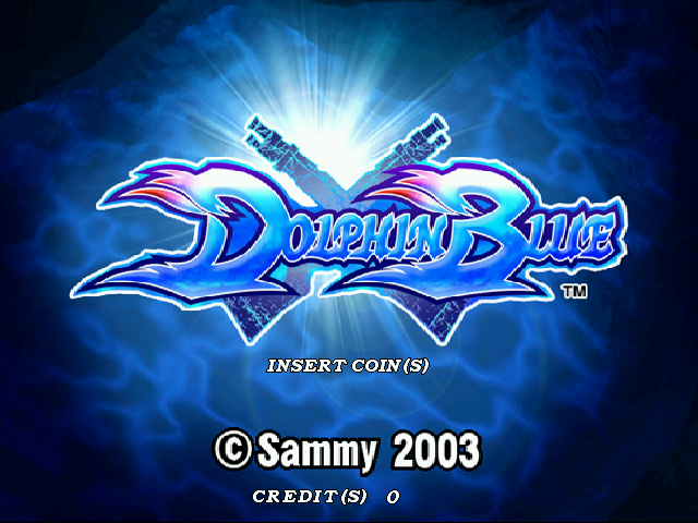Dolphin Blue Title Screen