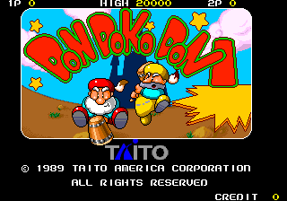 Don Doko Don (US) Title Screen