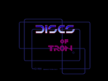 Discs of Tron (Upright) Title Screen