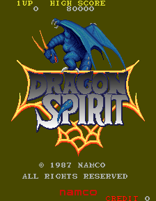 Dragon Spirit (new version (DS3)) Title Screen