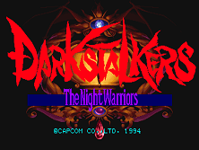 Darkstalkers: The Night Warriors (Euro 940705) Title Screen