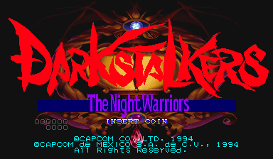 Darkstalkers: The Night Warriors (Hispanic 940818) Title Screen