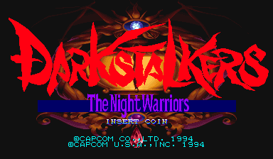 Darkstalkers: The Night Warriors (USA 940705 Phoenix Edition) (bootleg) Title Screen