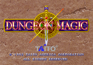 Dungeon Magic (Ver 2.1A 1994/02/18) Title Screen