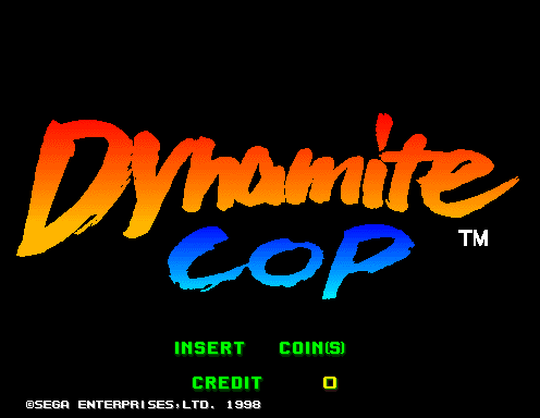 Dynamite Cop (Export, Model 2B) Title Screen
