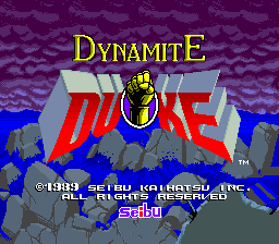 Dynamite Duke (Europe, 03SEP89) Title Screen