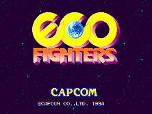 Eco Fighters (World 931203) Title Screen