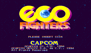 Eco Fighters (Hispanic 931203) Title Screen