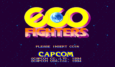 Eco Fighters (USA 940215) Title Screen
