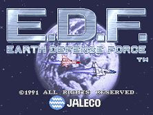 E.D.F. : Earth Defense Force (set 1) Title Screen