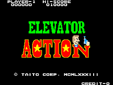 Elevator Action (5 pcb version, 1.1) Title Screen