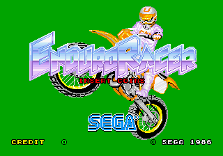 Enduro Racer (YM2151) (FD1089B 317-0013A) Title Screen
