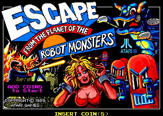 Escape from the Planet of the Robot Monsters (set 1) Title Screen