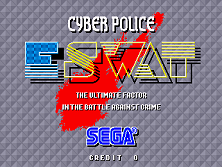 E-Swat - Cyber Police (set 4, World) (FD1094 317-0130) Title Screen