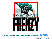 Football Frenzy Title Screen
