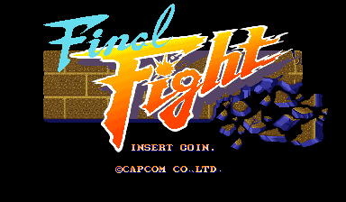 Final Fight (Japan) Title Screen