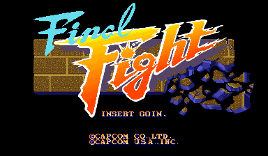 Final Fight (US) Title Screen