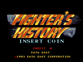 Fighter's History (Japan ver 41-07, DE-0395-1 PCB) Title Screen